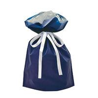 巾着袋 ネイビー 中 50P 1包(50枚)袋入【クリスマス】 (取寄品)