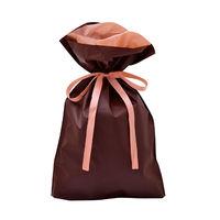 巾着袋 ブラウン 中 50P 1包(50枚)袋入【クリスマス】 (取寄品)