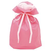 巾着袋 ピンク 中 50P 1包(50枚)袋入【クリスマス】 (取寄品)