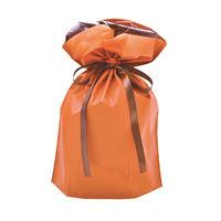 巾着袋 オレンジ 中 50P 1包(50枚)袋入【クリスマス】 (取寄品)