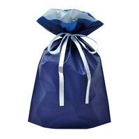巾着袋 ネイビー 大 50P 1包(50枚)袋入【クリスマス】 (取寄品)