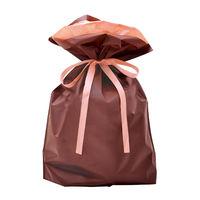 巾着袋 ブラウン 大 50P 1包(50枚)袋入【クリスマス】 (取寄品)