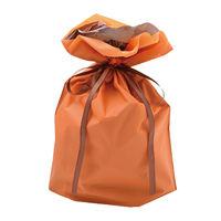 巾着袋 オレンジ 大 50P 1包(50枚)袋入【クリスマス】 (取寄品)