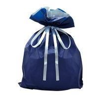 巾着袋 ネイビー 特大 50P 1包(50枚)袋入【クリスマス】 (取寄品)