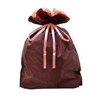 巾着袋 ブラウン 特大 50P 1包(50枚)袋入【クリスマス】 (取寄品)