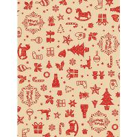 ササガワ 包装紙 アコール赤 全判 【クリスマス】 49-4043 1包(50枚)袋入 (取寄品)