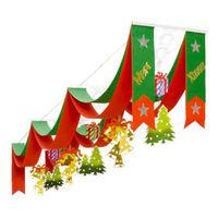 季節装飾 DXクリスマスウエーブペナント 1本袋入り【クリスマス】 (取寄品)