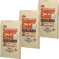 Super Gold(スーパーゴールド) ドッグフード チキンプラス 成犬用 7.5kg 1セット(3袋) 森乳サンワールド