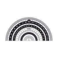 レイメイ藤井 分度器 見やすい白黒分度器 黒 9cm APJ151B 10個(直送品)