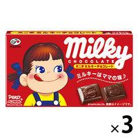 不二家 ミルキーチョコレート 3箱