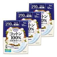 大王製紙 アテントコットン100%自然素材パッド特に多い時も安心12枚 773195 3パック(36枚入)