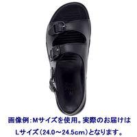 形状記憶 ナースサンダル(2本バンド) L(24.0~24.5cm) ブラック