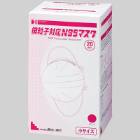 微粒子対応N95マスク 小サイズ ピンク 433855 1箱(20枚入) 長谷川綿行 (取寄品)