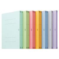 アスクル フラットファイル A4タテ 7色アソート エコノミータイプ 12冊
