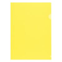 プラス 高透明カラークリアホルダー A4 イエロー 1袋(10枚)
