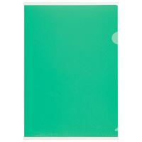 プラス 高透明カラークリアホルダー A4 グリーン 1袋(10枚)