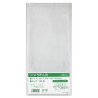 伊藤忠リーテイルリンク OPP袋(テープ付き) タオル用 横150×縦300+フタ40mm 透明封筒 1袋(100枚入)
