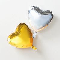 ハートバルーン シルバー/ゴールド