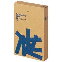 アスクル 半透明ゴミ袋 複合3層 厚口(厚手)タイプ 45L 厚さ0.030mm 1箱(100枚入) オリジナル
