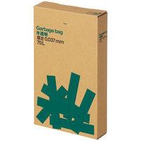 オリジナルゴミ袋 複合3層 厚口タイプ 70L 半透明 1箱(100枚入) アスクル