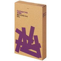 オリジナルゴミ袋 複合3層 厚口タイプ 90L 半透明 1箱(100枚入) アスクル