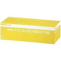 NEWラテックスグローブ パウダーフリー SS 241310 1箱(100枚入) 三興化学工業 (使い捨て手袋)