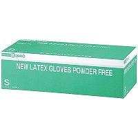 NEWラテックスグローブ パウダーフリー S 241320 1箱(100枚入) 三興化学工業 (使い捨て手袋)