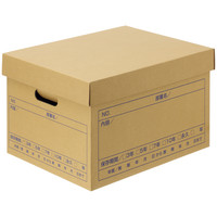 森紙業 文書保存箱 フタ式 A4用 10枚