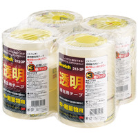 3M スコッチ(R) 透明梱包用テープ 313シリーズ 0.065mm厚 50m巻 313-3P 1セット(12巻:3巻入×4パック) スリーエム ジャパン