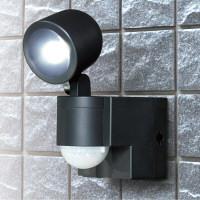 朝日電器 ELPA(エルパ) 乾電池LEDセンサーライト1灯 ESL-N101BT(BK) (取寄品)