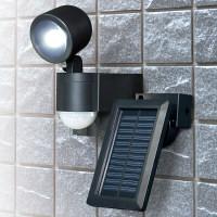 朝日電器 ELPA(エルパ) ソーラーLEDセンサーライト1灯 ESL-N101SL(BK) (取寄品)