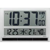 ラドンナ ハイブリッドデジタル電波時計[掛け/置き兼用 温湿度表示機能付] GDD-001 1個 (取寄品)