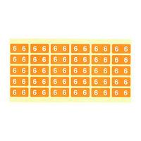 フィリオ ナンバーラベル カラー 「6」 MS-NRK6 1パック(150片入)
