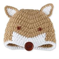マッドパイ Mud Pie FOX CROCHET HAT キツネ 帽子 1502235 1個