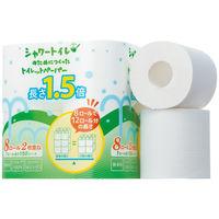 トイレットペーパー 8ロール入 パルプ ダブル 34.5m シャワートイレのためにつくったトイレットペーパー長さ1.5倍巻 1パック(8ロール入)