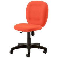 プラス NEXISチェア C01 オフィスチェア 布張り 肘無し オレンジ KC-NX61SL OR 1脚
