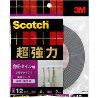 スリーエムジャパン スコッチR超強力両面テープ 合板・タイル用(厚手タイプ) 12x4 SPW-12 1巻