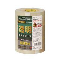 スリーエム ジャパン スコッチ(R)透明梱包用テープ重量物用 315-3P 1パック(3巻入)