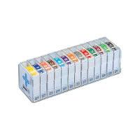 リヒトラブ カラー月ラベル ロールタイプアソートパック HK781R-コミ 1ケース(3900片:300片入×13ロール) (直送品)