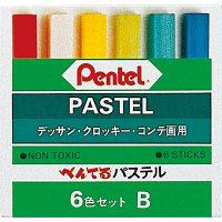 ぺんてる ぺんてるパステル 6色 Bタイプ D GAー6BD 2個 (直送品)