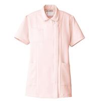 AITOZ(アイトス) ナースジャケット(ベーシック) 女性用 半袖 ピンク L 861346-060
