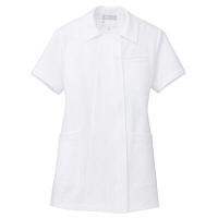 AITOZ(アイトス) オープンネックチュニック(ナースジャケット) 半袖 ホワイト M 861369-001