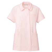 AITOZ(アイトス) オープンネックチュニック(ナースジャケット) 半袖 ピンク L 861369-060