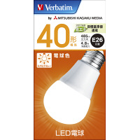 LED電球 電球色 E26 40W LDA5L-G/V6 三菱化学メディア