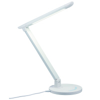 調光機能付7W白色LEDスタンドライトWH 白 SDLE07N12WH ヤザワコーポレーション