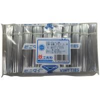 共和 ビニタイPET3層 4×8 銀 1000/ポリ 幅4×長さ100mm(1本) QA-080-12T 1袋(1000本入)