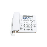 パナソニック デジタルコードレス電話機 VE-GD25DL-W