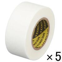 「現場のチカラ」 カモ井加工紙 マスキングテープ 白 24mm×18m 1パック(5巻入) KMT750WH24