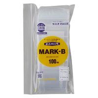 ユニパック(R)MARK 0.04タイプ チャック付ポリ袋   A8 MARK-B 透明  1袋(300枚入) 生産日本社