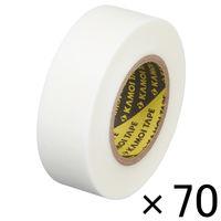 「現場のチカラ」 カモ井加工紙 マスキングテープ 白 18mm×18m 1箱(70巻入) KMT750WH18